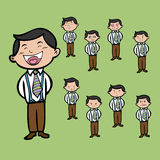 Character man with emotion faces Stock Photography