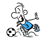 Character man footballer cartoon Stock Photography