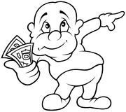Character with Money Royalty Free Stock Photo