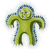 Character monster vector flat illustration, cute happy green mut Royalty Free Stock Photography