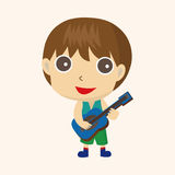 Character musician theme elements. Vector illustration file Royalty Free Stock Photo