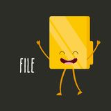 character office icon design Royalty Free Stock Photos