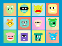 Character pastel fun, choose your character  Stock Images