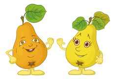 Character pears Stock Photography