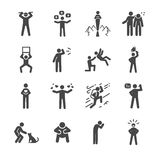 Character and personality icons set Stock Image