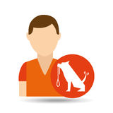 Character pet training dog carrying strap Stock Image