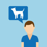 Character pet training dog icon Royalty Free Stock Images