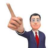 Character Pointing Means Hand Up And Commercial 3d Rendering Stock Photos