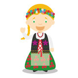 Character from Poland dressed in the traditional way Stock Photos