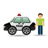 Character police car graphic. Vector illustration eps 10 Royalty Free Stock Photography
