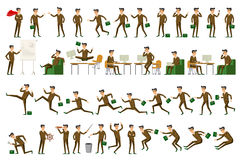 Character positions set business people vector Royalty Free Stock Image