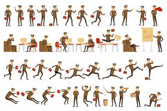 Character positions set business people vector Stock Images