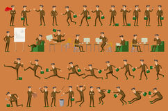 Character positions set business people vector Royalty Free Stock Images