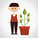 character pot plant Royalty Free Stock Photos