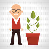 character pot plant Royalty Free Stock Images