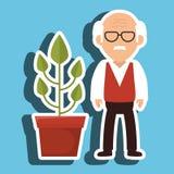 character pot plant Stock Photo