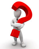 Character with question mark Stock Image