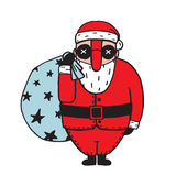 Character of Santa Claus in Glasses Stock Images