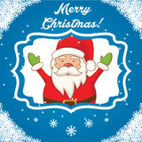 Character Santa Claus on a winter landscape. vector Stock Photography
