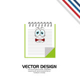 Character School Supply design Royalty Free Stock Photo