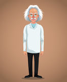 Character scientist physical with glasses coat Royalty Free Stock Photography