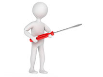Character with a screwdriver Stock Photo
