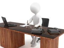 Character secretary Royalty Free Stock Image