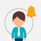Character secure protection. Illustration eps 10 Royalty Free Stock Images