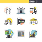 The character set associated with the Finance Royalty Free Stock Photos