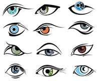 Character set - eyes Royalty Free Stock Image