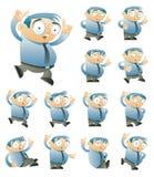 Character set four. Vector, office character set illustration stock illustration