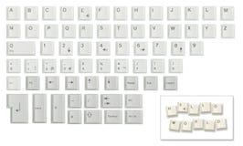 Character set made of keyboard keys Royalty Free Stock Photos