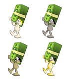Character Set - Man with money Royalty Free Stock Image