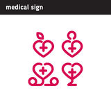Character set for medical companies or institutions Royalty Free Stock Images
