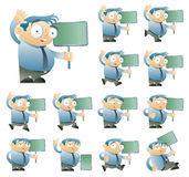 Character set one. Office character set one. 12 variations. Vector illustration stock illustration