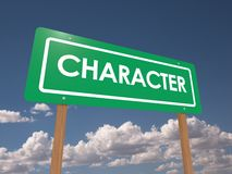 Character sign Royalty Free Stock Image