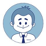 Character smiling clerk. Vector illustration Stock Photography
