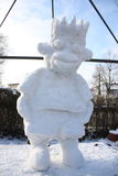 Character of snow. A cartoon character of snow Royalty Free Stock Image