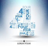 Character sort for number four logo  future technology. Design Royalty Free Stock Photography