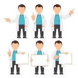 Character IT specialist, scientist, doctor, engineer Stock Photo