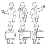 Character IT specialist, scientist, doctor Stock Photo