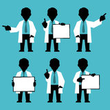 Character IT specialist, scientist, doctor Royalty Free Stock Images