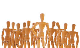 Character standing in front of a crowd Stock Image