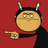 Character with striped ears Royalty Free Stock Photos