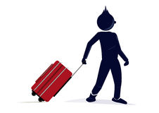 Character with a suitcase Stock Images