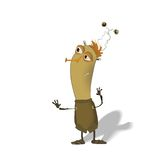 Funny thin bug cartoon Royalty Free Stock Images