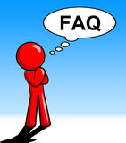 Character Thinking Faq Shows Faqs Support And Answer Royalty Free Stock Photography
