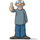 A character with thumb up Royalty Free Stock Images