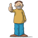 A character with thumb up Stock Photos