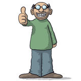 A character with thumb up Stock Photo